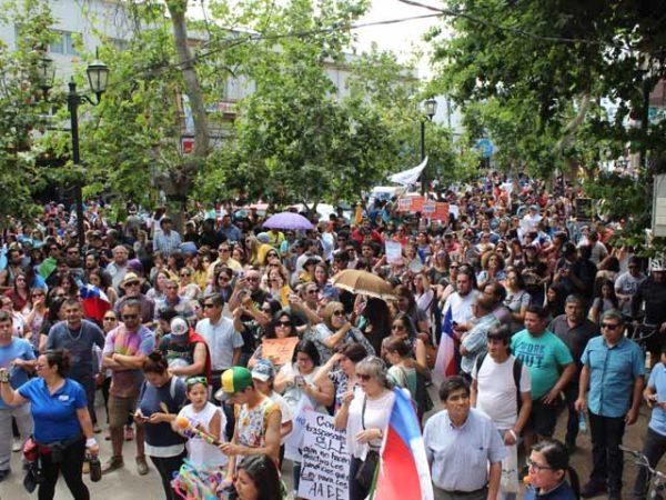 ORGANIZACIONES SOCIALES SE VOLCARON A LA CALLE EN MASIVA MOVILIZACIÓN EN LOS ANDES
