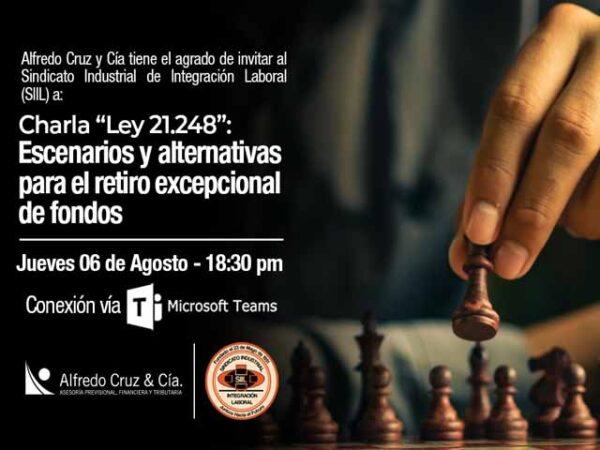 INVITACIÓN A CHARLA DE RETIRO DEL 10% DE LOS FONDOS DE PENSIONES